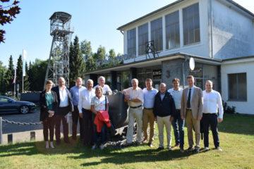 CDU Kreisvorstand unter Tage in Ramsbeck