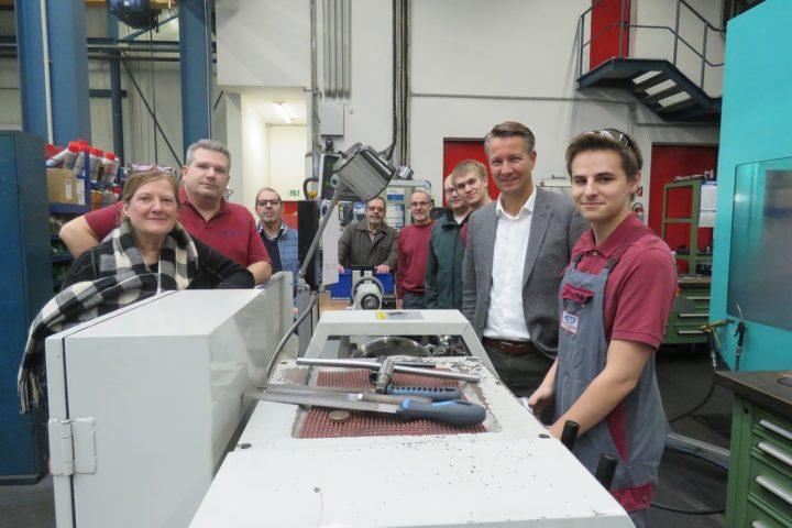Matthias Kerkhoff MdL besucht den Ausbildungsbetrieb des Jahres 2019